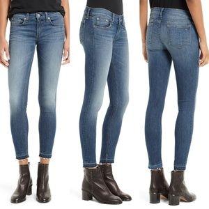 Rag & Bone Frayed Released Hem Ankle Skinny Jeans